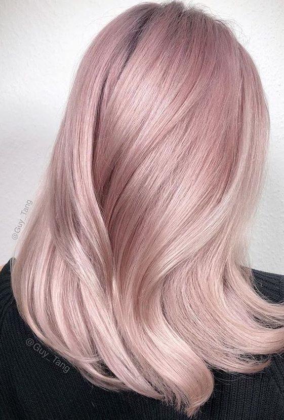 رنگ مو یاسی صورتی