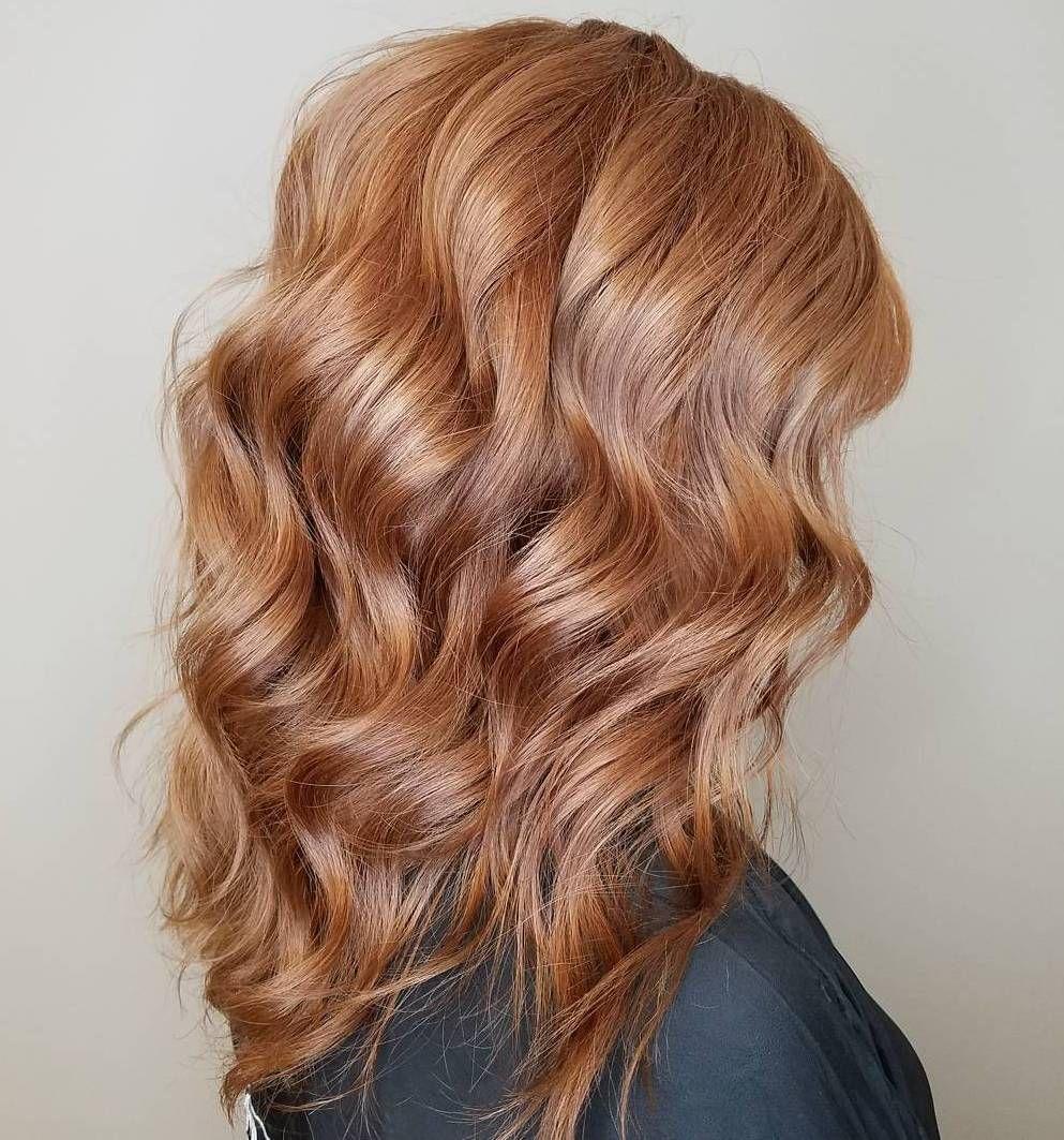 عکس رنگ موی عسلی شامپاینی