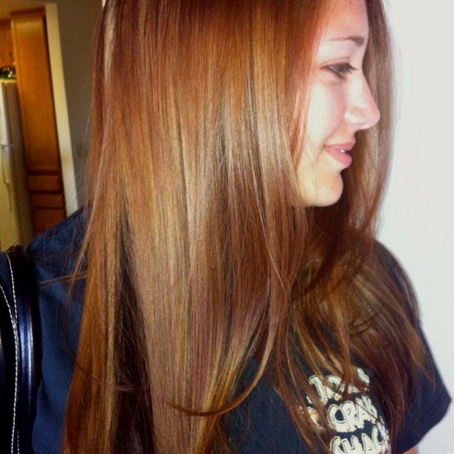 رنگ موی عسلی متوسط