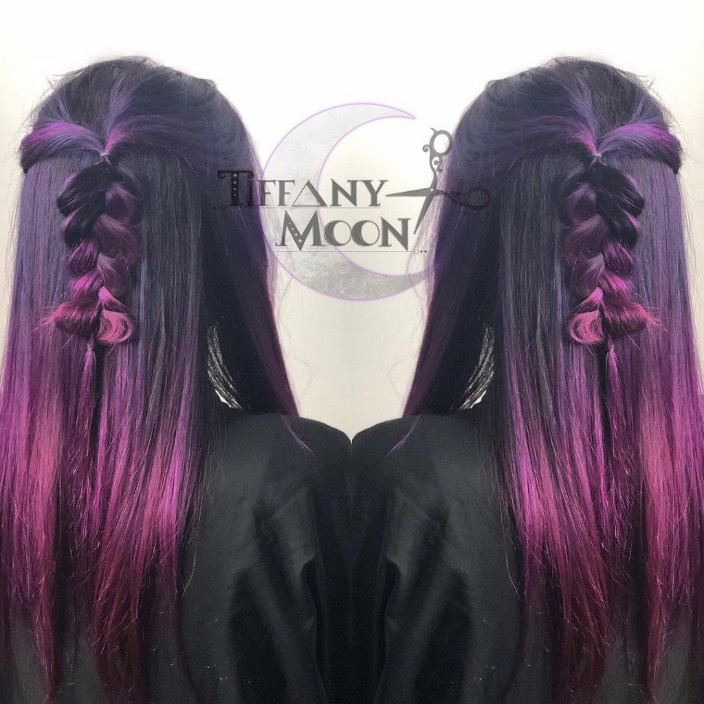 موهای دو رنگ شده