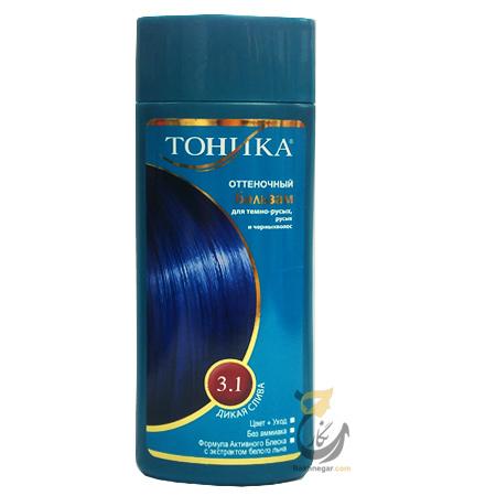 شامپو رنگ تونیکا آبی