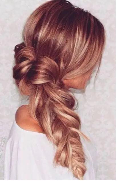 ترکیب رنگ موی صورتی هلویی