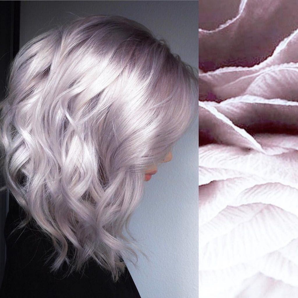 رنگ مو یاسی دودی