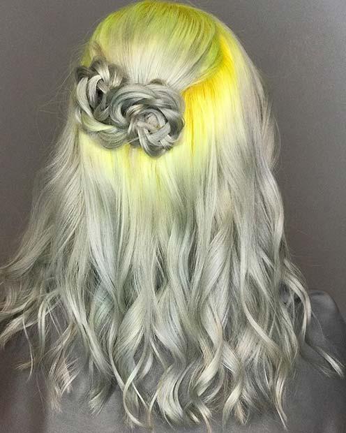 رنگ مو طلایی نقره ای