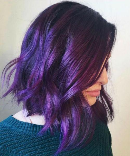 رنگ مو بنفش فانتزی