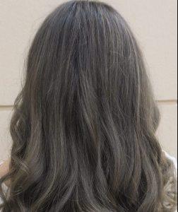 رنگ مو دودی زیتونی