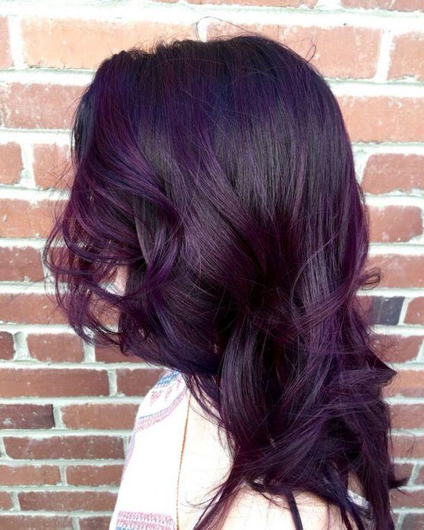 رنگ مو بنفش تیره