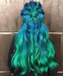 رنگ مو سبز آبی
