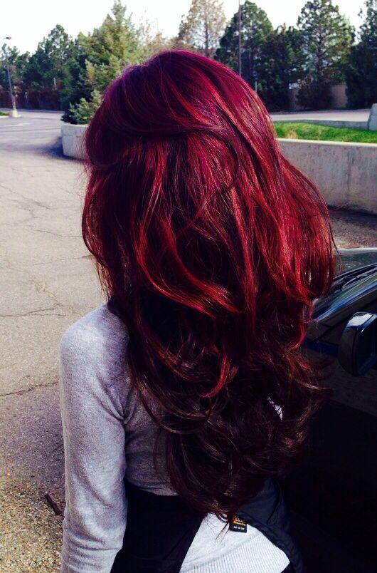 رنگ موی قرمز فانتزی