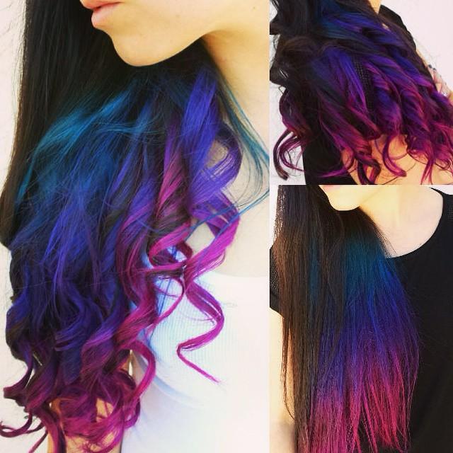 رنگ موی فانتزی بدون دکلره