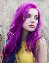 رنگ مو صورتی بنفش