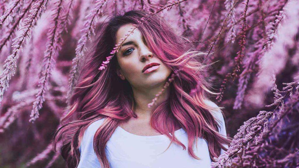 رنگ مو فانتزی صورتی
