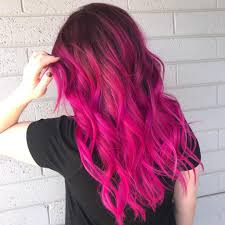 رنگ موی ترکیبی قرمز صورتی