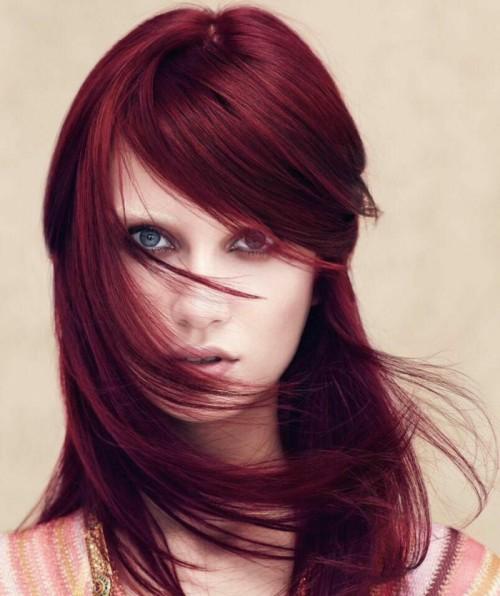 آموزش رنگ موی ترکیبی قرمز