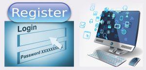 روش ثبت نام و ورود به سایت از طریق کامپیوتر