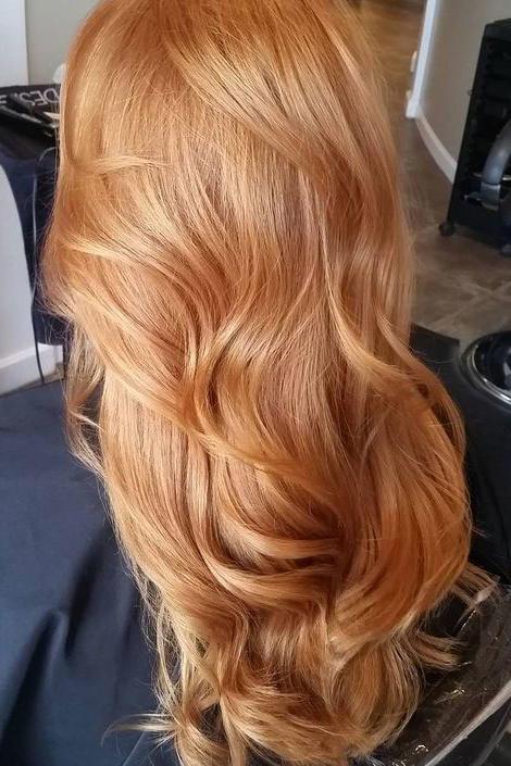 عکس رنگ موی عسلی بلوند پایه 9